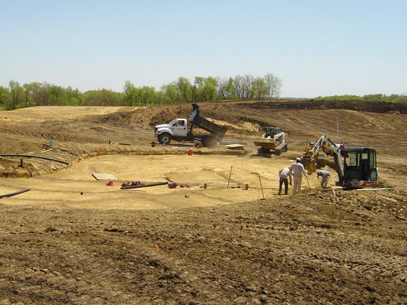 Green subgrade and drainage preparation
