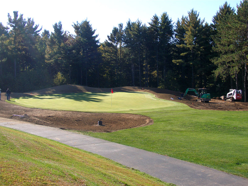 Hole 12 green surrounds during construction
