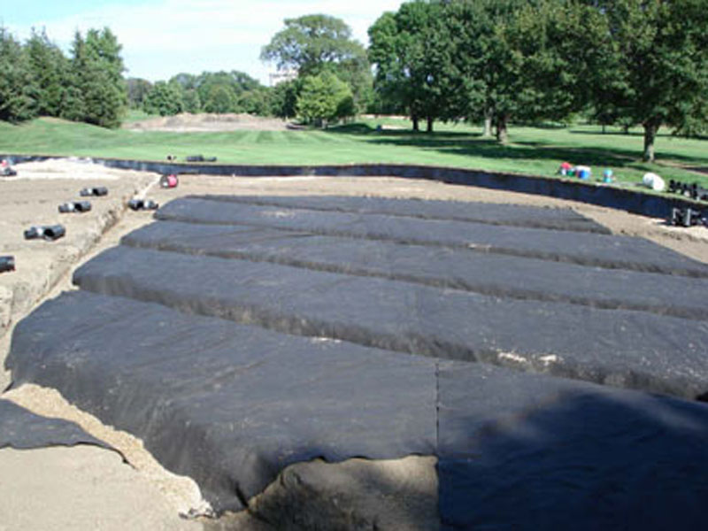 Westmoreland Country Club Geotextile Install